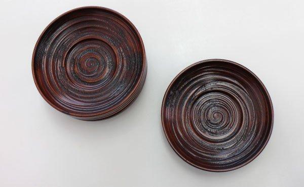 画像3: 茶托 すり漆 5枚組
